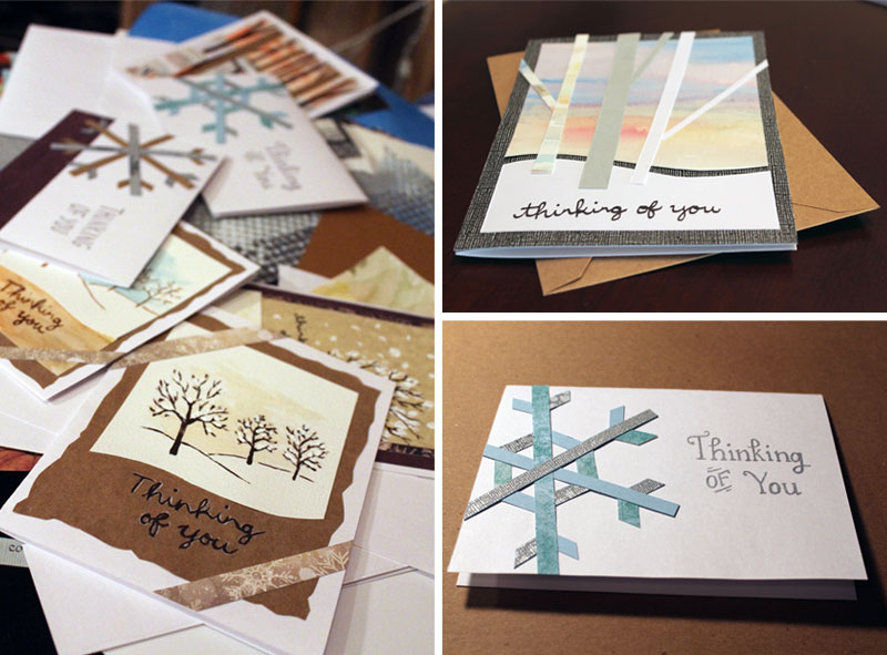 Cards I made to donate to a local hospice.